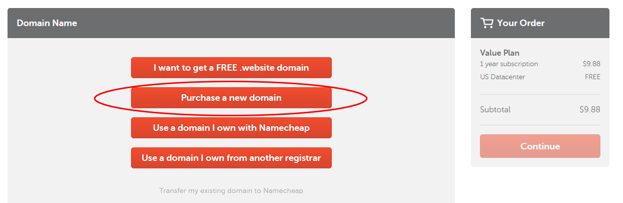 choose a free domain or purchase a cheap com domain from namecheap tutorial by prathilaba