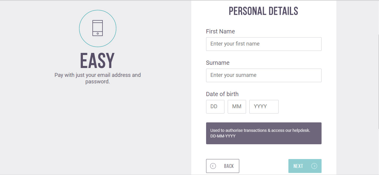 Personal Information Step - Skrill ewallet opening account tutorial in English by Prathilaba