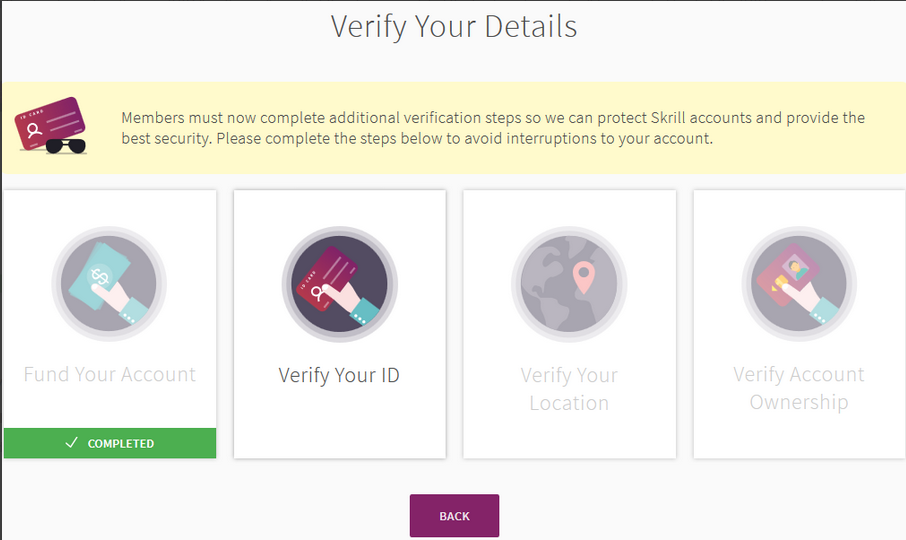 how to verify additional verification steps in skrill including webcam-02 - Skrill ewallet opening account tutorial in English by Prathilaba