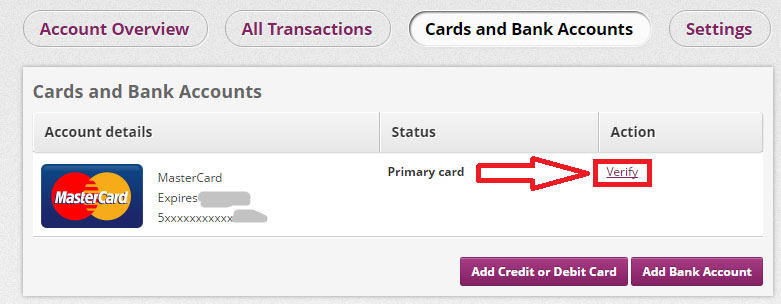 Verify your master or visa card - Skrill ewallet opening account tutorial in English by Prathilaba