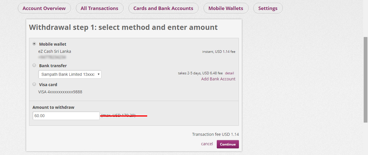 skrill to ezcash withdrawal in Sinhala by prathilaba.com