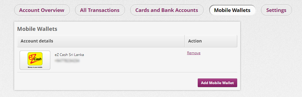 adding ez cash mobile wallet to skrill in sinhala