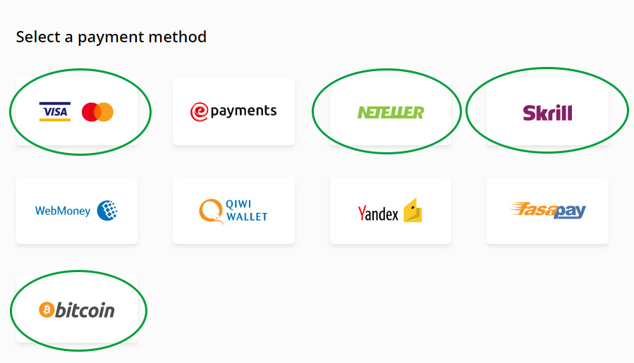 Skrill, Neteller, VISA, Master and bitcoin deposits supported by Olymp Trade in Sinhala