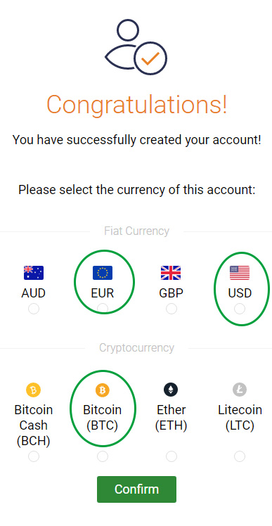 choose deposit currency in binary.com live account in English Sri Lanka